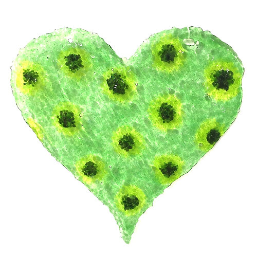 Brandy Snap Heart (Polka Green)