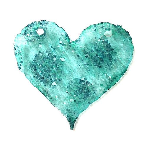 Brandy Snap Heart (Aqua Delight)