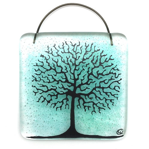 Mini Tree of Life Light Catcher (Aqua)
