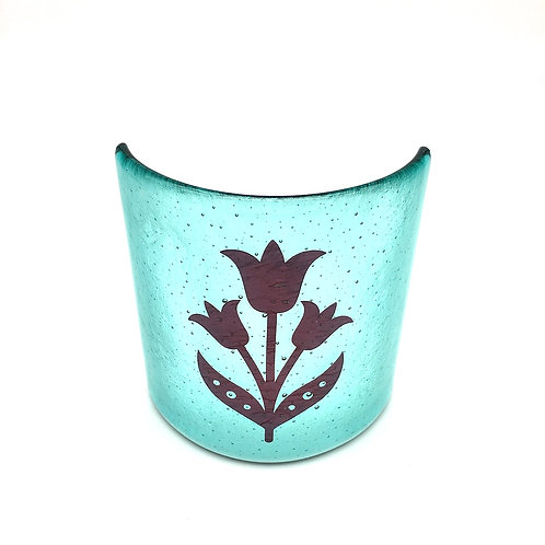 'Fired Flowers' Small Curve (Aqua)