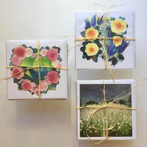 artworks on cards, original greeting cards by artists, different cards