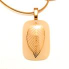 Necklace - Gold Skeleton Leaf
