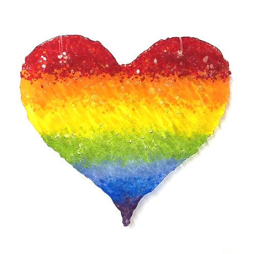 Brandy Snap Heart (Rainbow)