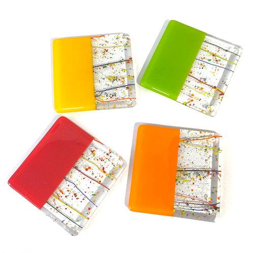 'Celebration' Set of 4 Coasters (multicolour)