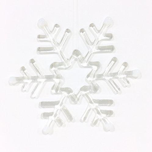 Giant Snowflake (Clear & White)