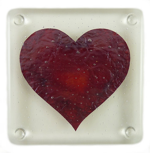 Big Love glass coaster by Claudia Wiegand