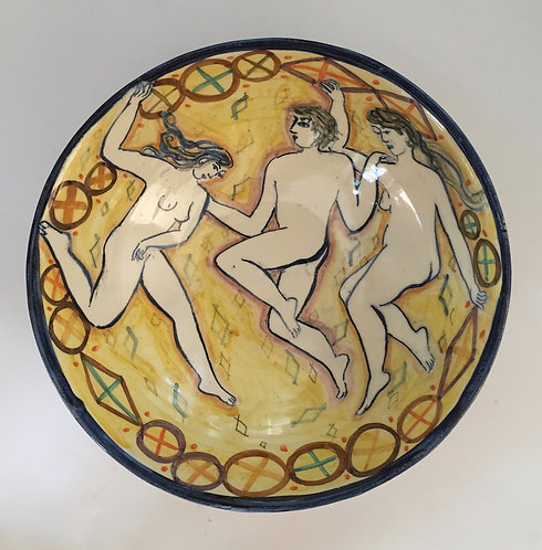 Three Figure Bowl by Yolande Beer