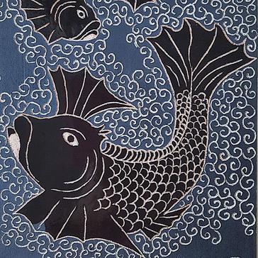 Orange Fish Ceramic Tile