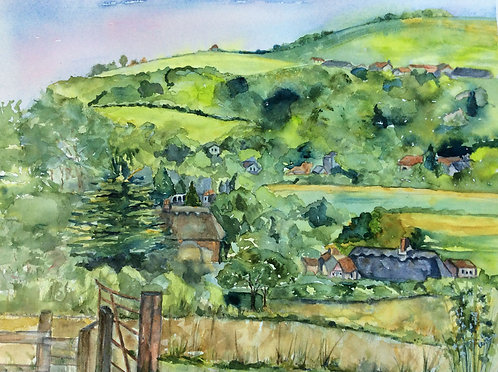 View from Houghton Hill towards Amberley by Lindsey Pearson
