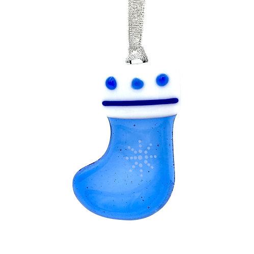 Blue Stocking Christmas Decoration