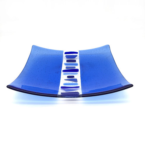 Large Square 'Geo' Platter (Blue)