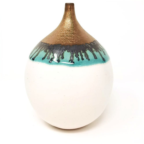 White and Gold Bottle by Jane Bridger