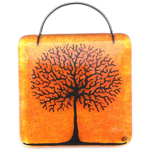 Mini Tree of Life Light Catcher (Orange)