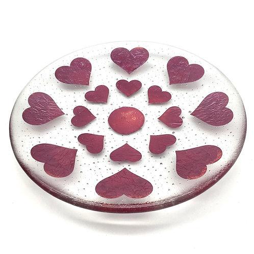 Fired Hearts Medium Shallow Bowl