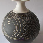 Bottle with Black Fish