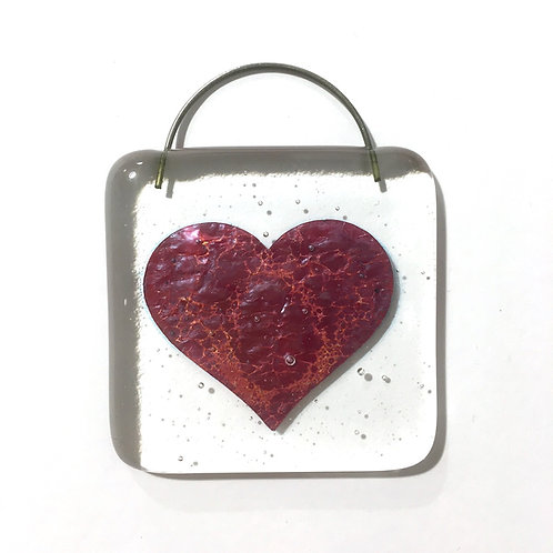 Small Fired Heart Hanging