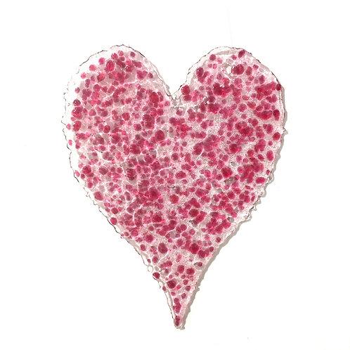 Long Brandy Snap Heart (Dotty Pink)