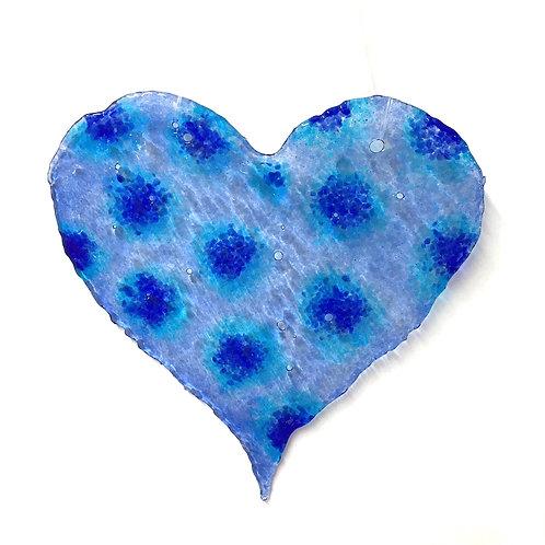 Brandy Snap Heart (Polka Blue)