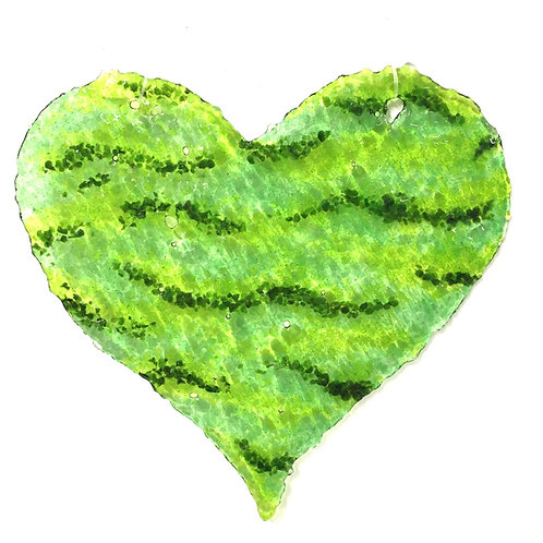 copy of Brandy Snap Heart (Green Waves)