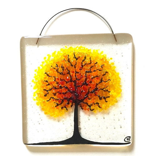 Full Bloom glass hanging in choice of 5 colours by Claudia Wiegand