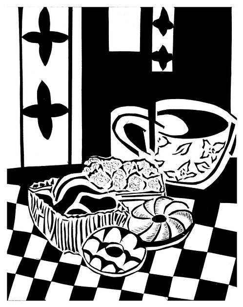 Tea and biscuits by Joan Wilkes