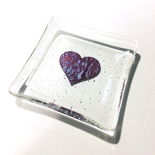 Little 'Fired Heart' shallow dish by Claudia Wiegand
