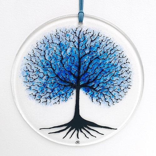 Tree of Life Circular Hanging (Blue)