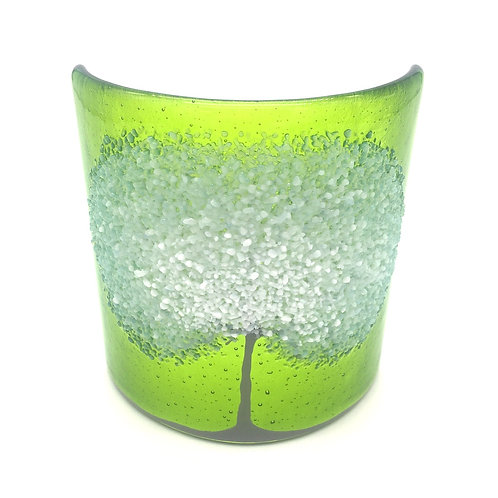 Snowy Tree Small Curve (Lime Green)