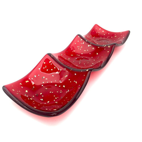 Three Tier Nibble Dish (Red)