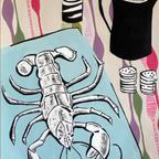 Lobster and jug still life