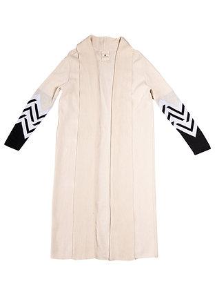 Cream ZigZag Coat