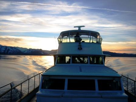 Sunset on the Yacht