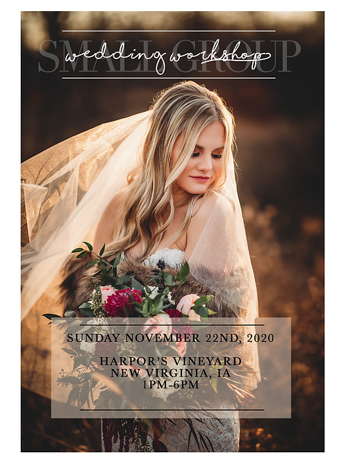 Wedding Workshop: AVAILABLE NOW!