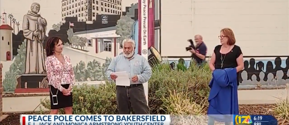 Rotary Club of Bakersfield East selects Boys and Girls Clubs to have a Peace Pole