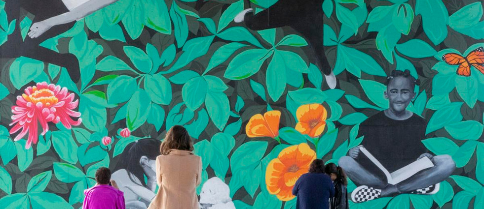 East Bakersfield overpass blooms into message of inspiration for young girls