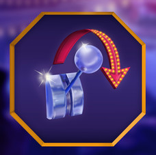 Gaming Slot Machine Logo - Spin Again!
