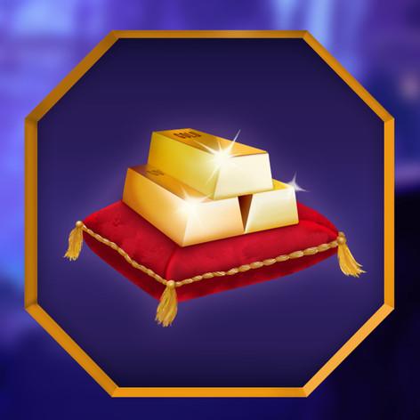 Gaming Slot Machine Logo - Gold