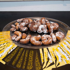 Sufganiot and Stickers of the font