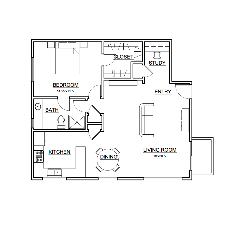 Apartment #1 Floor Plan
