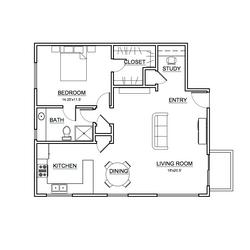 Apartment #1 Floor Plan