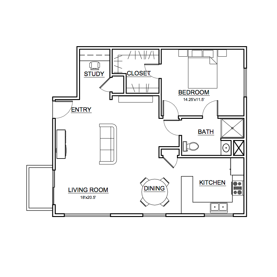 Apartment #2 Floor Plan