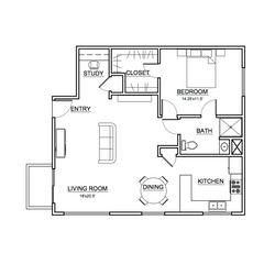 Apartment #2 Floor Plan