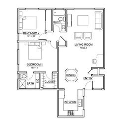 Apartment #4 Floor Plan