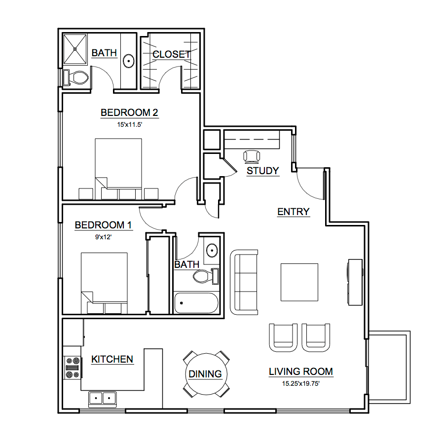 Apartment #3 Floor Plan