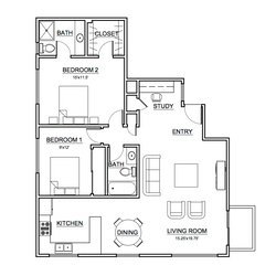 Apartment #3 Floor Plan