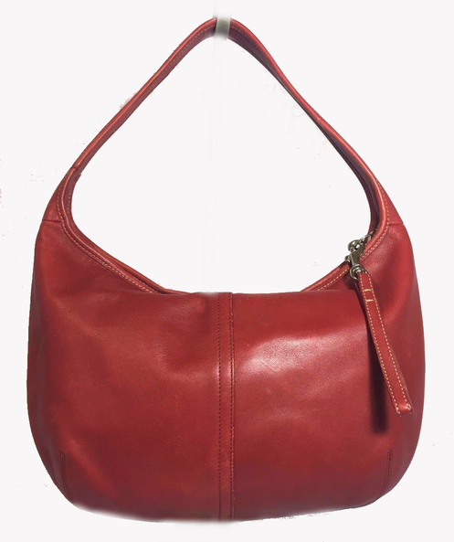 854b1c5c25 Authentic vintage COACH Ergo # 9219 buttery soft Genuine Red Leather Hobo  purse