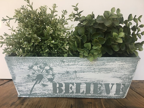 Hand painted wooden Box - BELIEVE