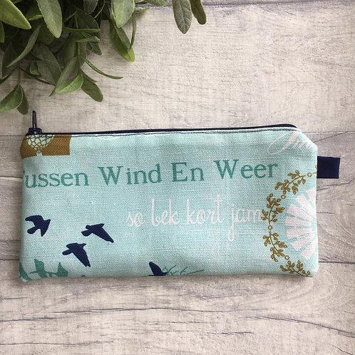 """""""Tussen wind en weer"""" pencil bag /make up bag"""