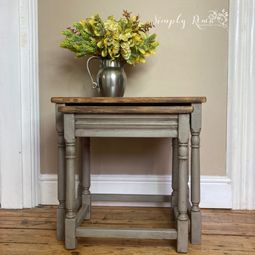 Upcycled nesteed tables