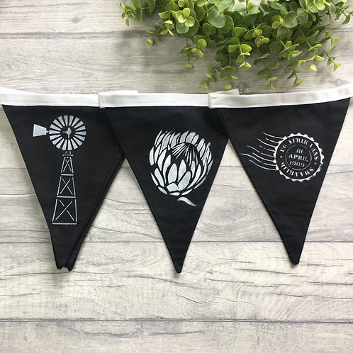 South African Inspired Bunting - Black